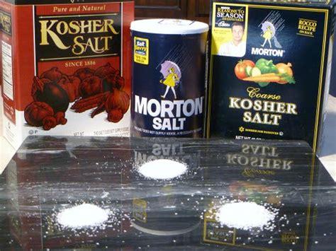 is kosher salt the same as table salt cookistry ingredients table salt vs kosher salt