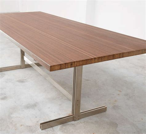 Exclusive Dining Tables Exclusive Wenge Dining Table By Jules Wabbes At 1stdibs