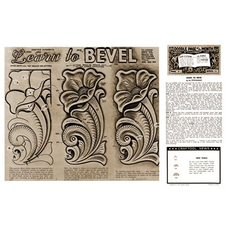 leather pattern library leathercraft library learn to bevel by al stohlman