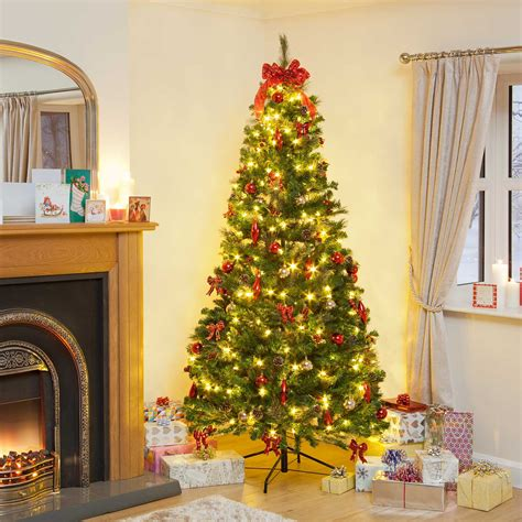 pop up christmas trees 7ft pre lit decorated pop up led tree and seasonal flexyourplastic