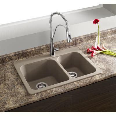 home depot kitchen sinks top mount blanco silgranit granite composite topmount