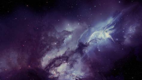 wallpaper violet amorphous clouds   dark space