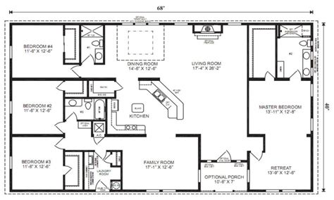 five bedroom mobile homes triple wide floor plans three section home plans triple