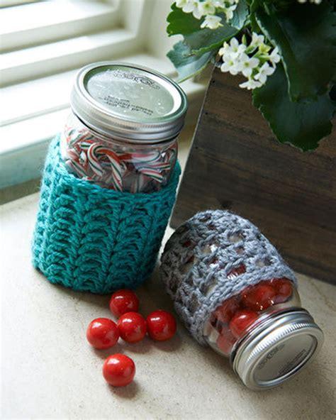 crochet pattern jar cozy free crochet jar cozies crochet pattern from redheart com