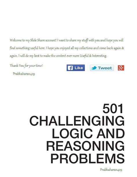 Mat Reasoning Questions by 501 Challenging Logical Reasoning Questions With Answers