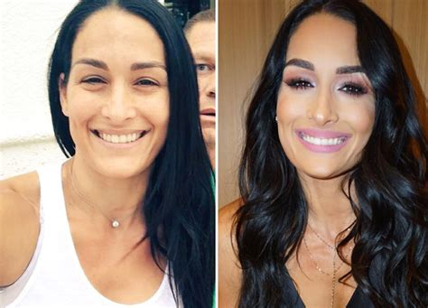 nikki bella extensions wwe divas with and without makeup see their transformations
