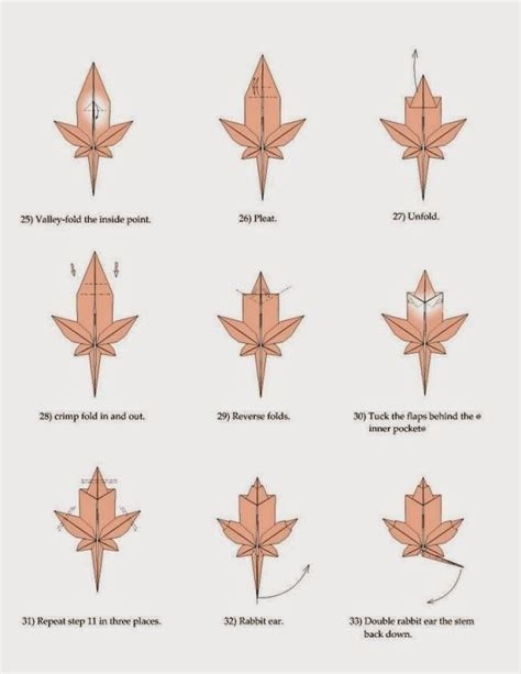 Origami Maple Leaf - maple leaf origami paper origami guide origami