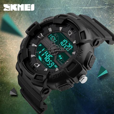 Jam Tangan Pria New Camo skmei jam tangan digital analog pria 1189 black jakartanotebook