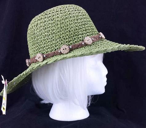 Aw08 Trends Great Big Hats In by Sun Hat Tropical Trends Womens Straw Raffia Green Wide