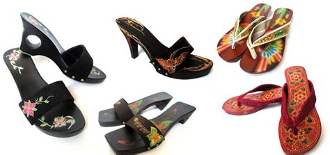 Sandal Wanita Kayu Kelom Geulis 7 hasil kerajinan tangan khas kota tasikmalaya yang