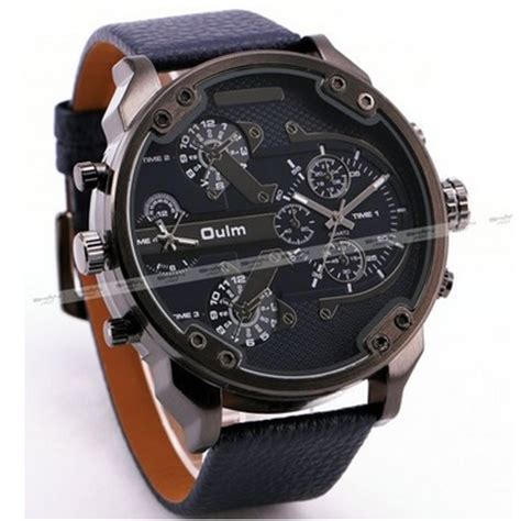 Oulm Jam Wanita Leather Band Fashion 9591l Black oulm artificial quartz leather band fashion 3548 black jakartanotebook