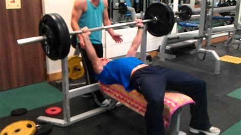 average nfl bench press 110kg bench press at 80kg youtube