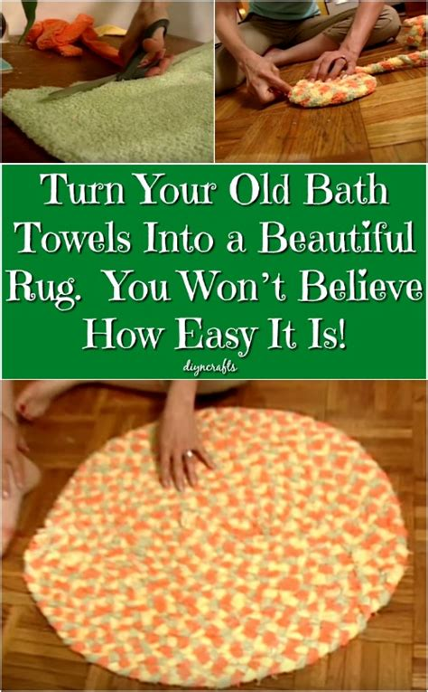 rug that turns when turn your bath towels into a beautiful rug you won t believe how easy it is diy crafts