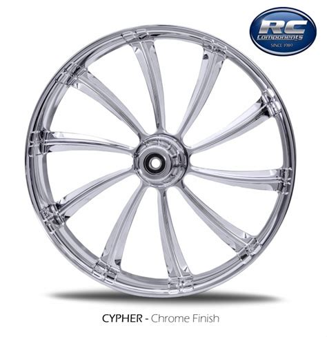 chrome components rc components cypher chrome wheel package for harley models