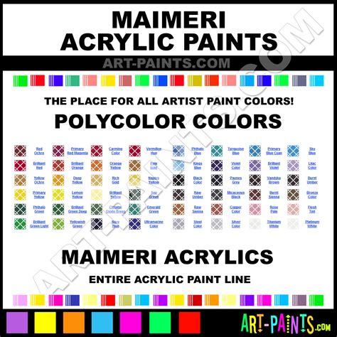 maimeri polycolor acrylic paint colors maimeri polycolor paint colors polycolor color