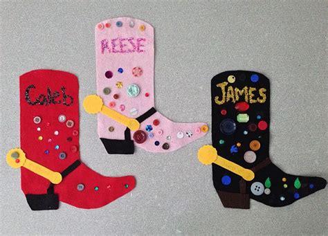 cowboy crafts rodeo season cowboy boot craft arts crafts for