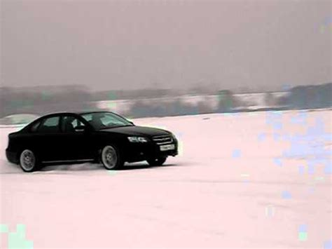 subaru legacy drift subaru legacy 3 0r speed drift in snow youtube