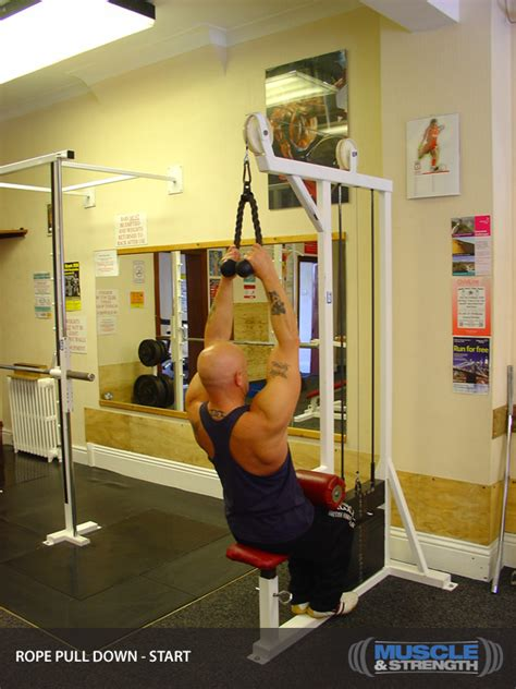 rope lat pull exercise guide tips