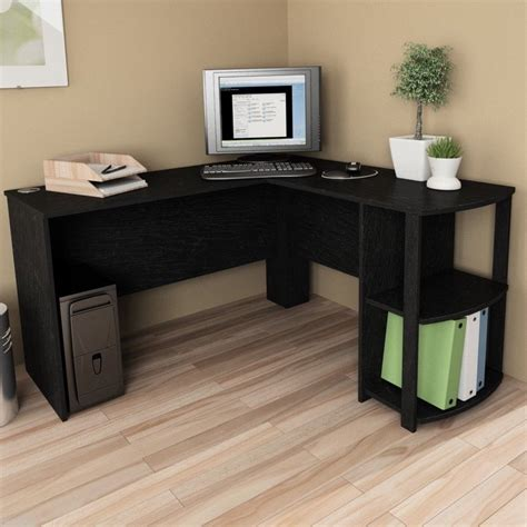 Corner Workstation Desk L Shaped Corner Desk Computer Workstation Home Office Executive Work Table Ebay