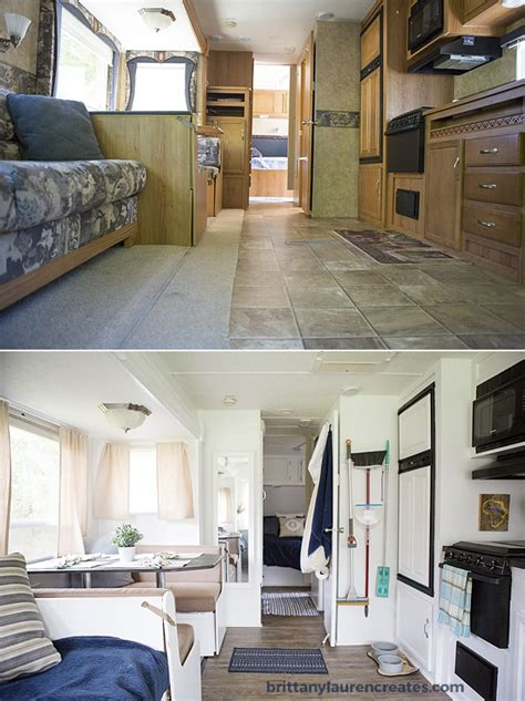 before after pictures of the rv renovation we did on our before after gorgeous diy cer renovation