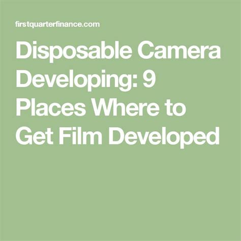 Best Place To Get Pictures Developed
