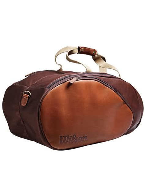 Tennis Media Leather Tote by Wilson Leather Bag Talk Tennis