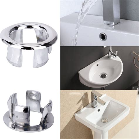 chrome sink overflow cover 5 pcs bathroom basin sink overflow ring chrome cover trim