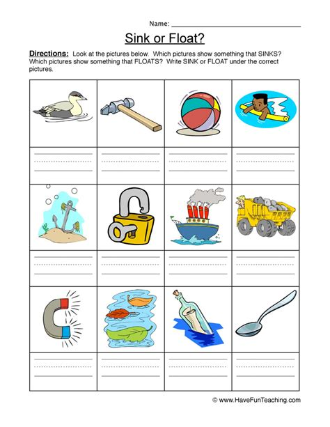 sink or float worksheet 40 sink float worksheet sink or float flickr photo