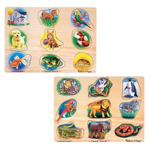 Doug Color Shapes Animals Peg Puzzle doug 174 sound puzzles set pets and animals 8 wooden peg puzzles target