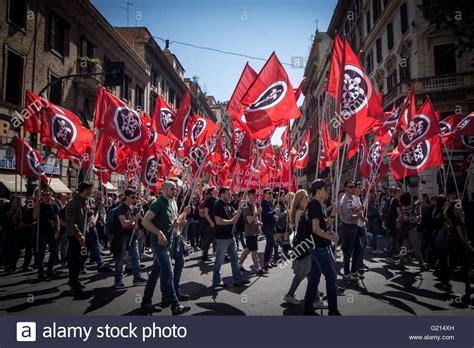 casa pound italia rome italy 21st may 2016 protesters iwith casa pound