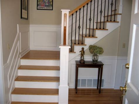 wood staircase for small space