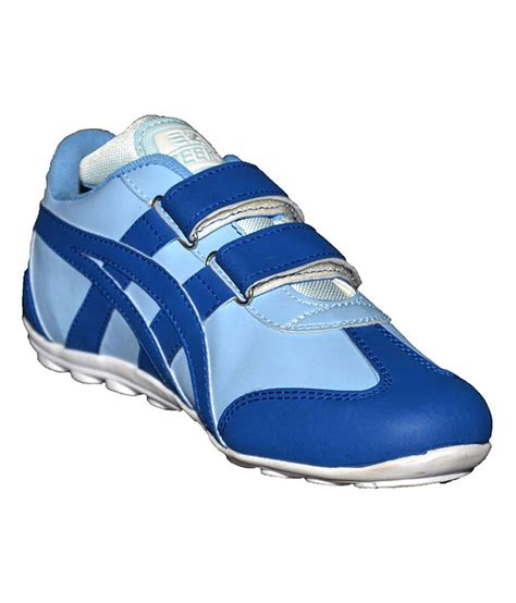 sports shoes with velcro zeefox blue synthetic leather velcro sport shoes price in