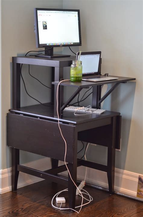 How To Build Your Own Cheap Easy Diy Standing Desk I Inexpensive Stand Up Desk