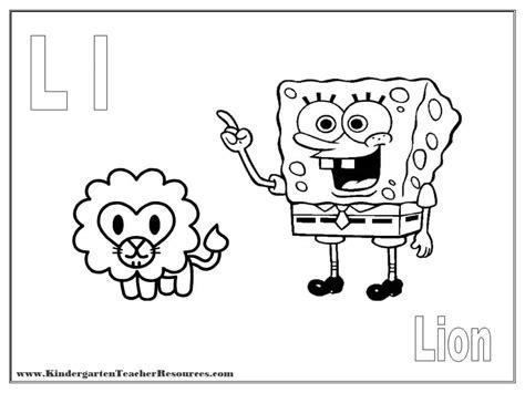 spongebob alphabet coloring pages spongebob alphabet coloring pages