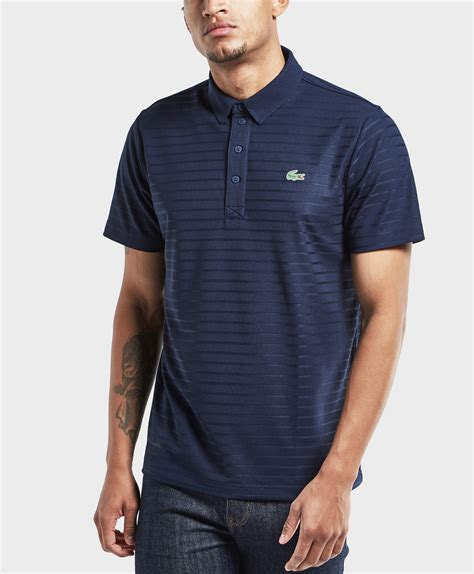 Mens Shirt Polo Blue Stripes B Bross lyst lacoste striped sleeve polo shirt in blue for