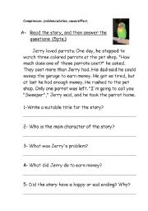 problem and solution reading worksheets reading comprehension problem solution