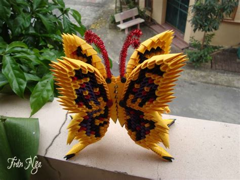 How To Make A 3d Origami Butterfly - 3d origami butterfly album nga 3d origami