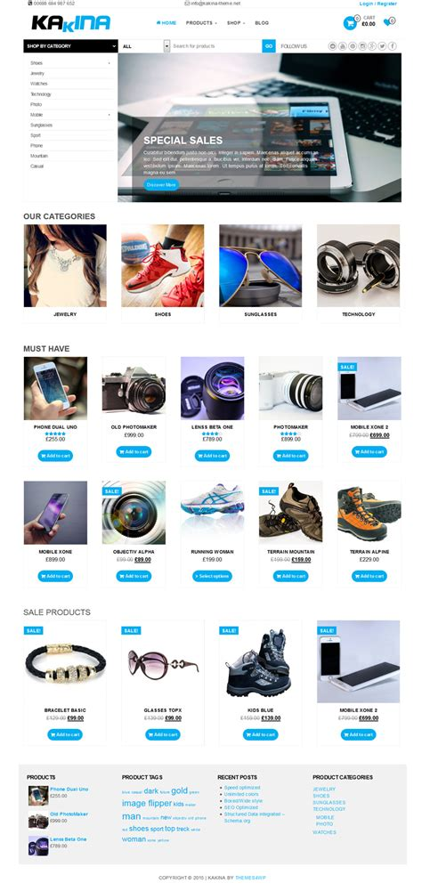 themes wordpress woocommerce free free woocommerce theme for wordpress kakina