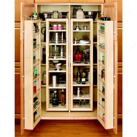 Wood Pantry Shelving Systems Swing Out Wood Pantry Kit Richelieu Hardware