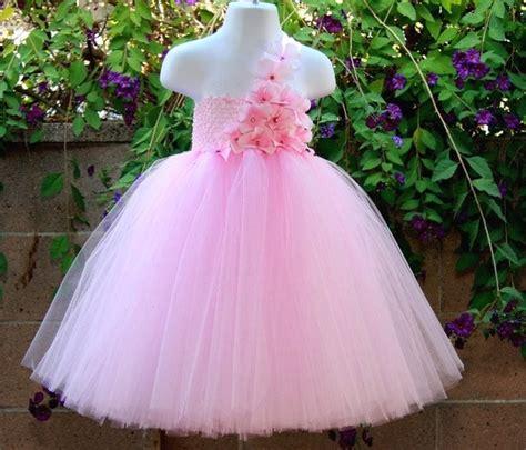 Qibao Pink Dress Tutu pink flowers tutu dress handmade fluffy crochet tulle tutus gown with