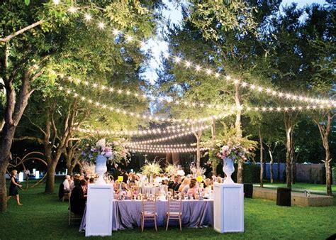 planning backyard wedding garden wedding lighting ideas with creative table