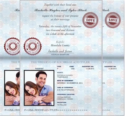passport invitation template 11 free psd vector eps
