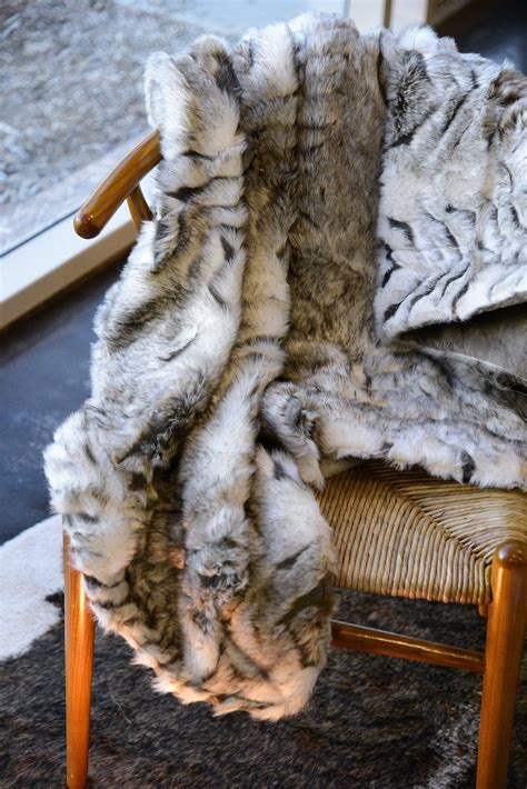 shabby chic gray and white faux fur throw blanket woodwaves