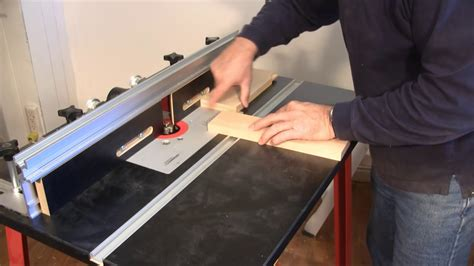 how do i use a router table setting up and using a router table a woodworkweb com