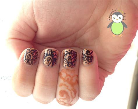 henna design nail art henna inspired nail art penguinsleftgreenpolish