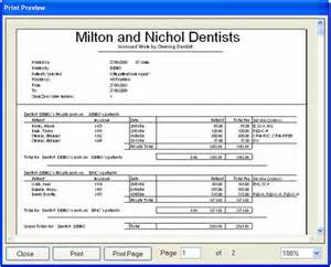 invoiced work by owning dentist