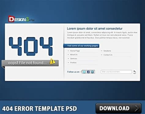 free 404 error page template free vector graphic free photos free icons free