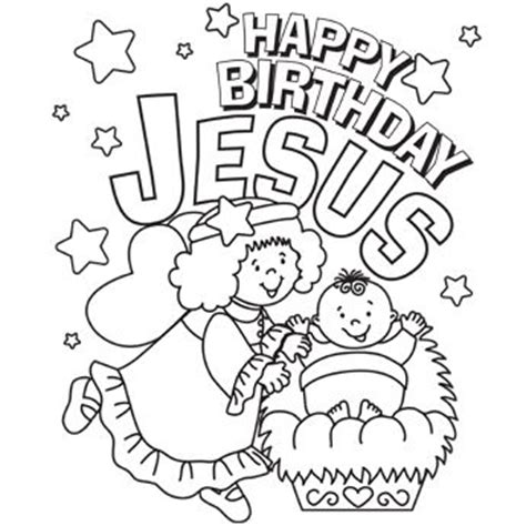 Happy Birthday Jesus Jesus Coloring Pages And Happy
