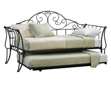 iron day bed iron daybed with trundle furniture of america traditional link wrought iron style