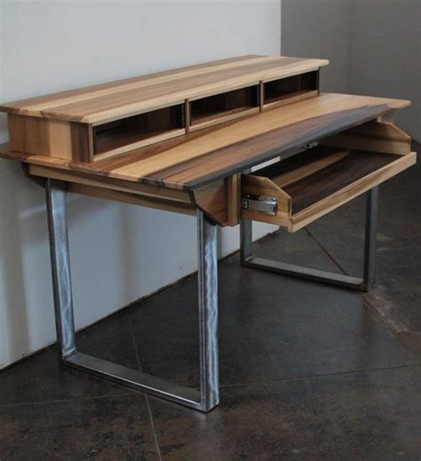desk for recording studio compact modern wood recording studio desk for composer by monkwood desks studio